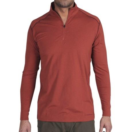 ExOfficio Teanaway Shirt - Zip Neck, Long Sleeve (For Men)