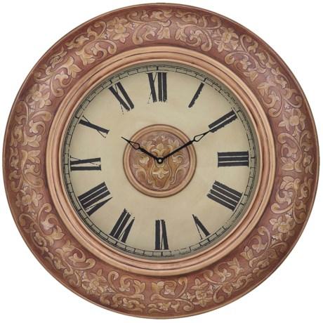 """Cooper Classics Rhona Wall Clock - 34"""" diameter"""
