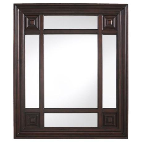 "Cooper Classics Marcella Rectangular Mirror - 34x40"""