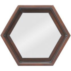 """Cooper Classics 18x20"""" Cordova Hexagon Mirror"""
