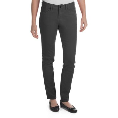 Worn Poppy Colored Skinny Jeans - Piece-Dyed Denim (For Women)