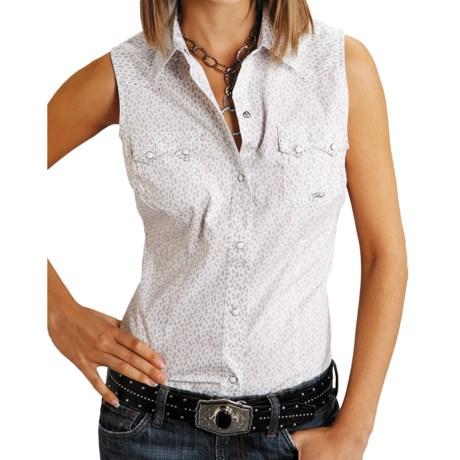Roper Amarillo Wave Stripe Shirt - Sleeveless (For Women)