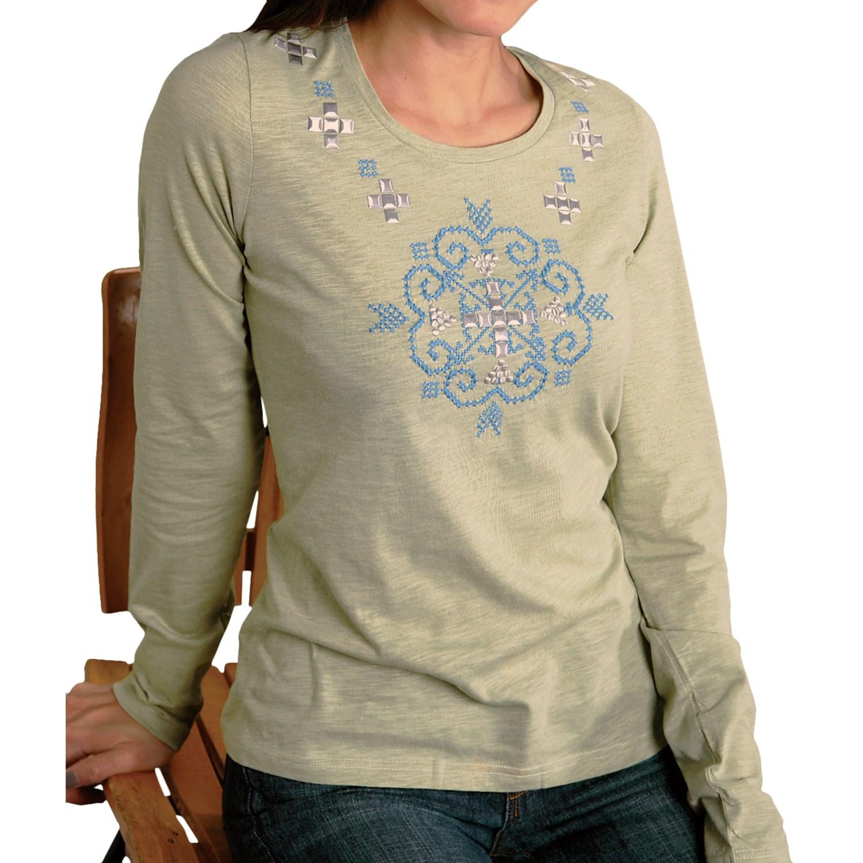 Roper cotton slub jersey t shirt for women 5505k save 75 for What is a slub shirt