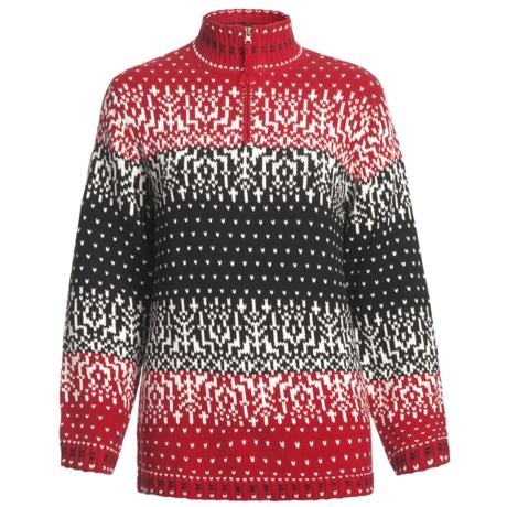 Zip Neck Winter Sweater (For Plus Size Women)