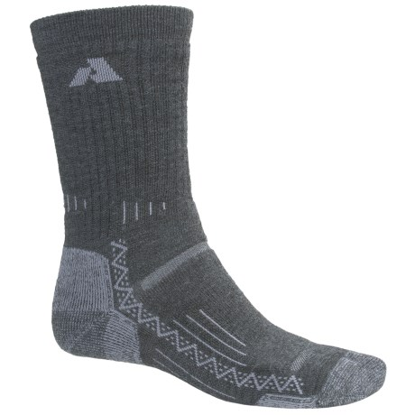 Point6 First Ascent Trekking Socks - Merino Wool Blend, Crew, Midweight (For Men and Women)