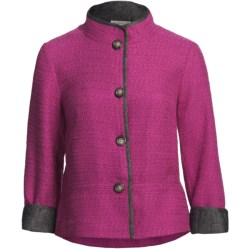 Pendleton Brigitte Jacket - Chambray Trim (For Plus Size Women)