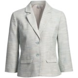 Pendleton Angela Cotton-Linen Jacket - 3/4 Sleeve (For Plus Size Women)