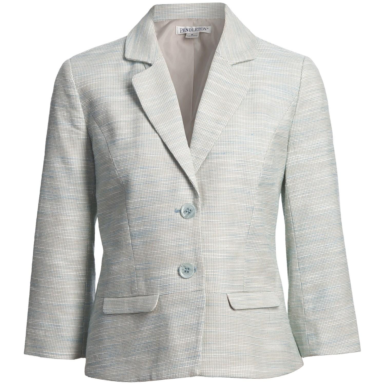 Pendleton Angela Cotton-Linen Jacket (For Women) - Save 64