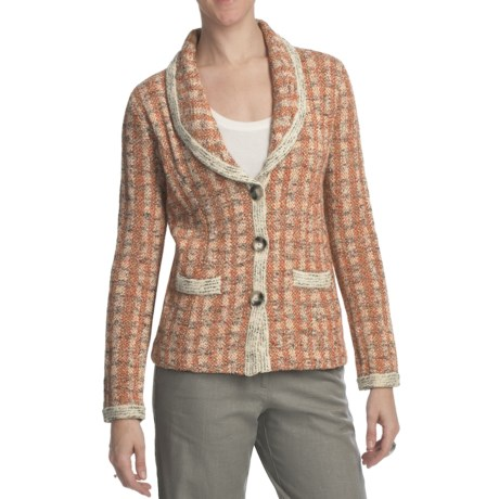 Pendleton Town Tweed Cardigan Sweater (For Plus Size Women)