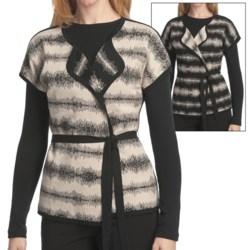 Pendleton Turn Around Cardigan Sweater - Reversible, Short Sleeve (For Women)