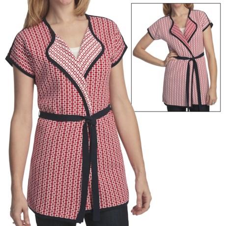 Pendleton Round Trip Cardigan Sweater - Reversible, Short Sleeve (For Plus Size Women)