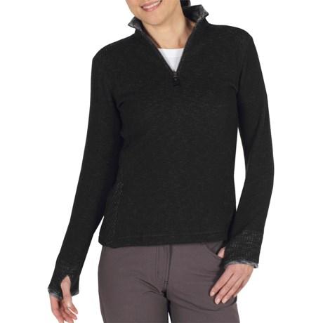 ExOfficio Roughian Sweater - Fleece-Lined, Zip Neck (For Women)