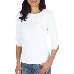 Exofficio Go-To Stretch Jersey Boat Neck Shirt- Dri-Release®, FreshGuard®, 3/4 Sleeve (For Women)