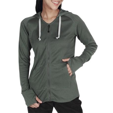 ExOfficio eXo Dri Lattice Zip Hooded Shirt - UPF 15+, Dri-Release® (For Women)