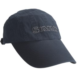 Simms 8-Panel Washed Twill Long Bill Cap - UPF 50+ (For Men)