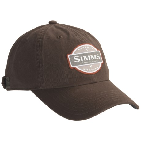Simms Washed Twill Cap - UPF 50+ (For Men)