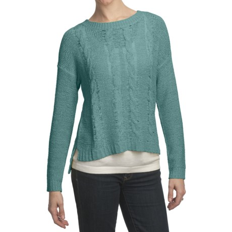 August Silk Cable Sweater - Tape Yarn (For Women)
