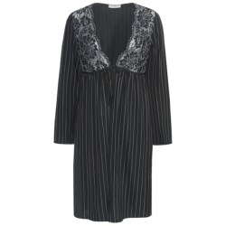 Feraud Paris Lace and Pinstripe Robe - Long Sleeve (For Women)