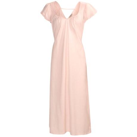 Feraud Paris Cotton Nightgown - Short Flutter Sleeve (For Women)