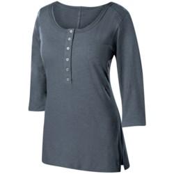 Isis Dream Henley Shirt - Cotton Slub, 3/4 Sleeve (For Women)