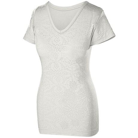 Isis Skyline V-Neck T-Shirt - Cotton Slub, Short Sleeve (For Women)