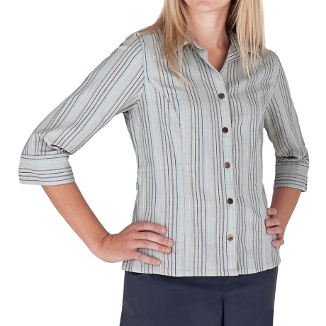 Royal Robbins Cool Mesh Stripe Shirt - 3/4 Sleeve (For Women)