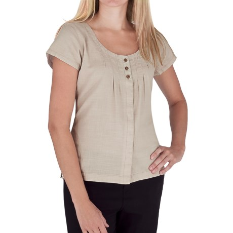 Royal Robbins Cool Mesh Pintuck Shirt - Hidden Button Front, Short Sleeve (For Women)