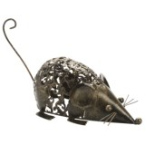 Ancient Graffiti Embossed Animal Statue - Metal