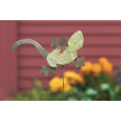Ancient Graffiti Gecko Garden/Yard Stake - Ceramic