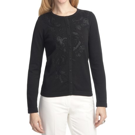 Foxcroft Embellished Cardigan Sweater (For Women)
