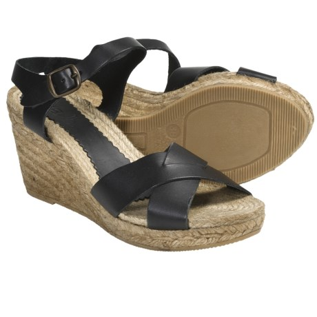 lisa b. Lisa B. and Co. Wedge Sandals - Leather (For Women)