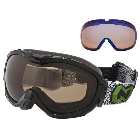 Native Eyewear Boomer Snowsport Goggles - Amber Polarized Lens, Sportflex Non-Polarized Lens