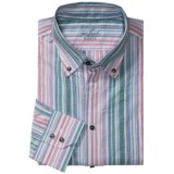 Van Laack Trim Fit Sport Shirt - Cotton-Linen, Long Sleeve (For Men)