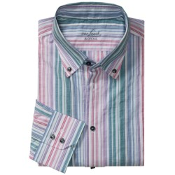 Van Laack Trim Fit Sport Shirt - Cotton-Linen, Long Sleeve (For Men)
