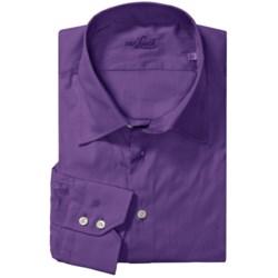 Van Laack Trim Fit Cotton Blend Sport Shirt - Long Sleeve (For Men)