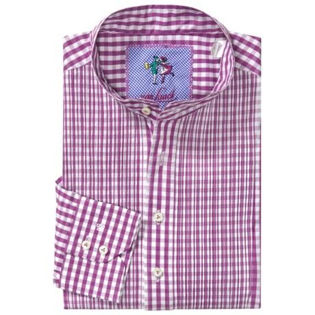 Van Laack Band Collar Pullover Sport Shirt - Long Sleeve (For Men)