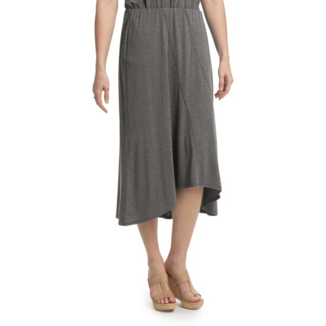 Two Star Dog Hi-Lo Skirt - Heathered Stretch Jersey (For Women)