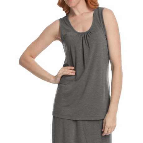 Two Star Dog Shirred Neck Tank Top - Heathered Stretch Jersey (For Women)