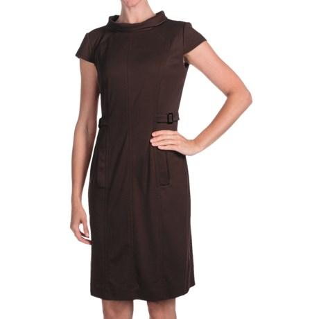 Chetta B Ponte Knit Dress - Short Sleeve (For Women)