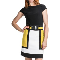 Chetta B Color-Block Dress - Short Sleeve (For Women)