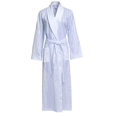 Diamond Tea Semi-Sheer Cotton Stripe Robe - Long Sleeve (For Women)