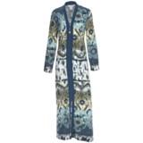 Diamond Tea Printed Jersey Robe - Zip Front (For Women)