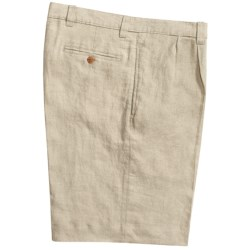 Vintage 1946 Linen Shorts - Pleated (For Men)