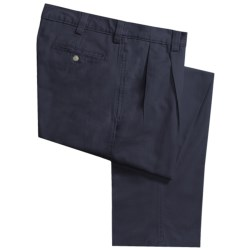 Vintage 1946 Cotton Twill Pants - Pleated Front (For Men)