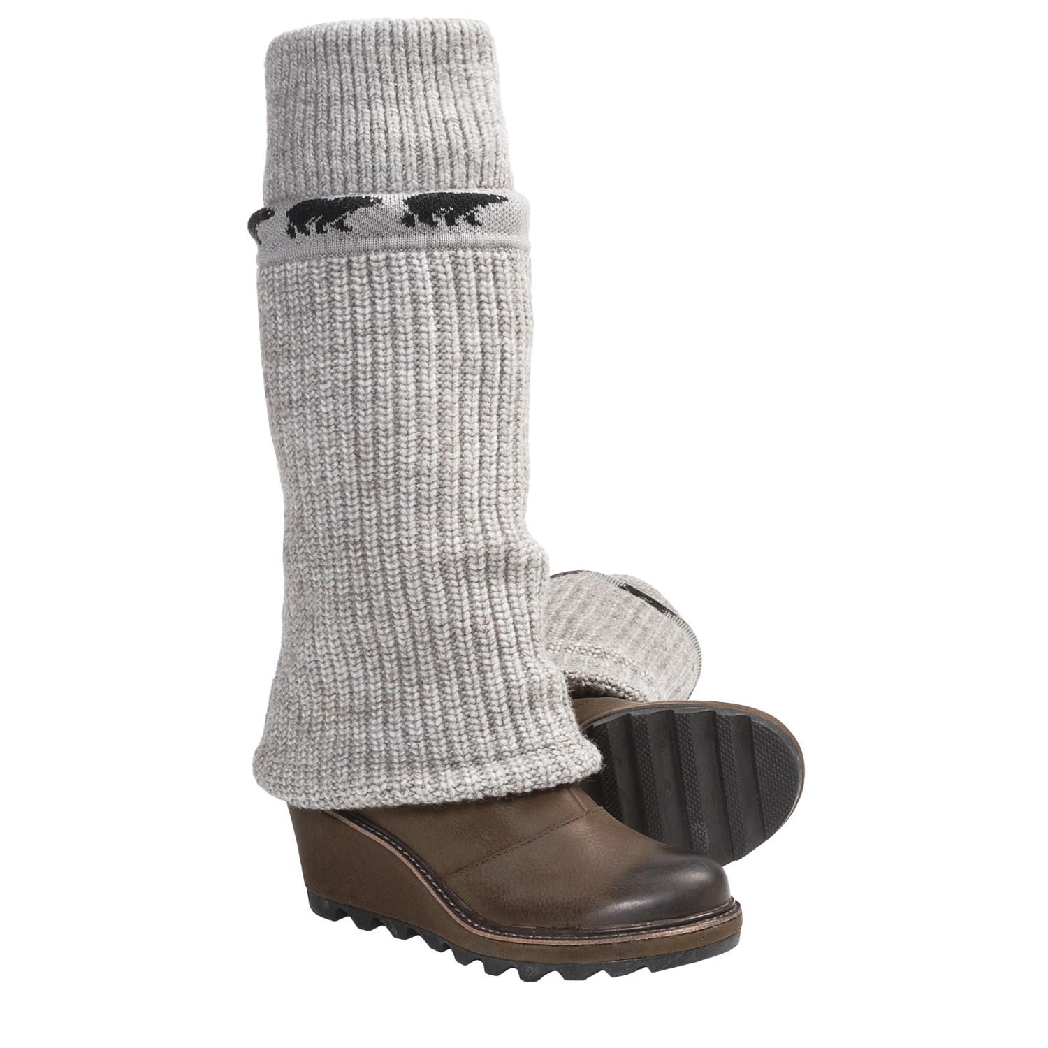 Cable Weather Boot : Sorel crazy cable wedge rib knit sweater boots for women