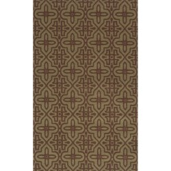 Momeni Deco Collection New Zealand Wool Hand-Carved Area Rug - 8x11'
