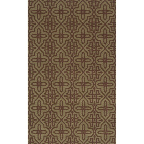 Momeni Deco Collection New Zealand Wool Hand-Carved Area Rug - 5x8'
