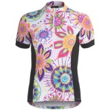 Sheila Moon Winter Weight Cycling Jersey - Zip Neck, Short Sleeve (For Women)