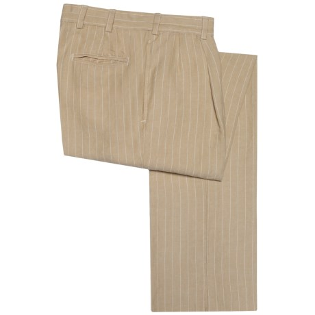 Bills Khakis M2 Pinstripe Pants - Linen-Cotton, Pleated (For Men)