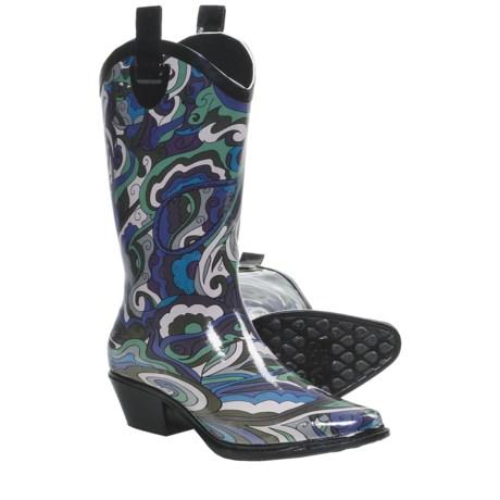 Dav Western Cowboy Karma Rain Boots (For Women)
